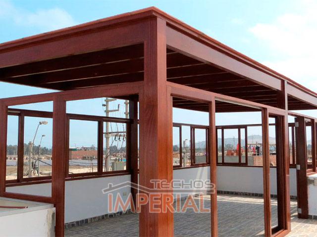 Techos de madera pumaquiro shihuahuaco tornillo huayruro for Tipos de terrazas de madera